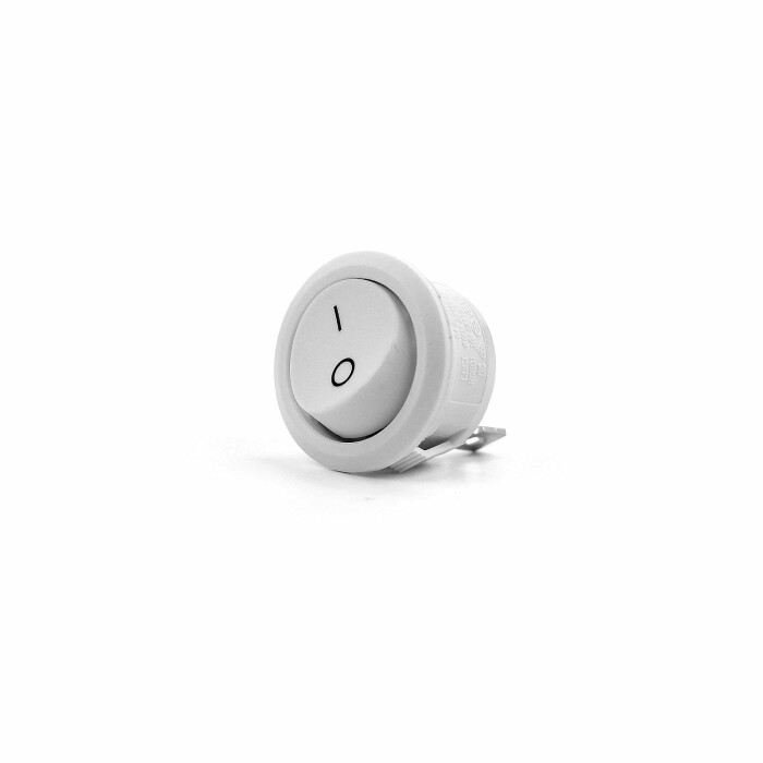 Wyłącznik przyciskowy, biały