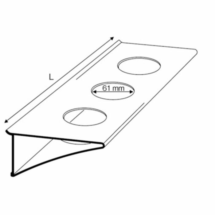 Półka na szklanki - długość : 212 mm
