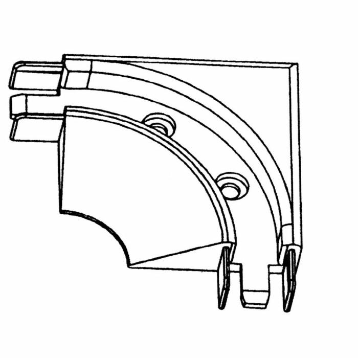 Narożnik 90° nakładany - aluminium