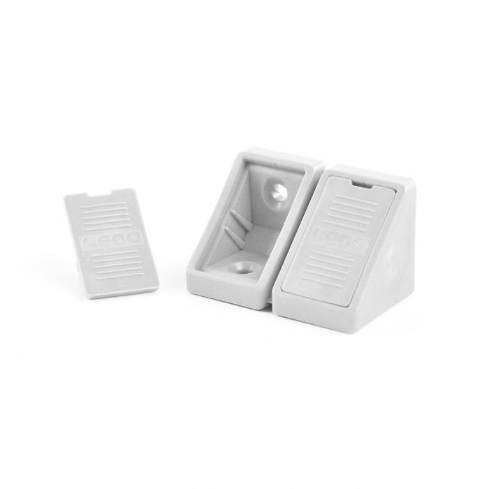 Kątownik plastikowy podwójny - biały, 100szt