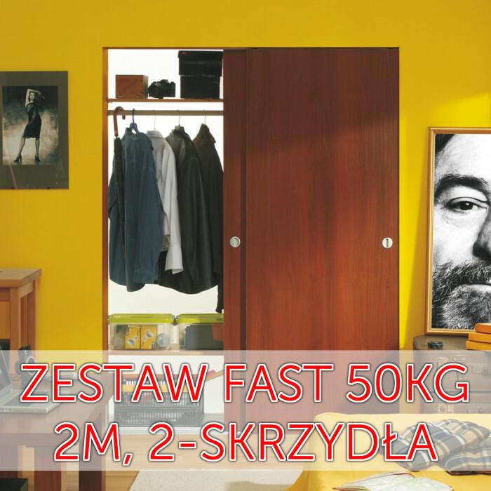 Zestaw okuć FAST do niskich i wysokich zabudów, 2 m, 2-drzwi