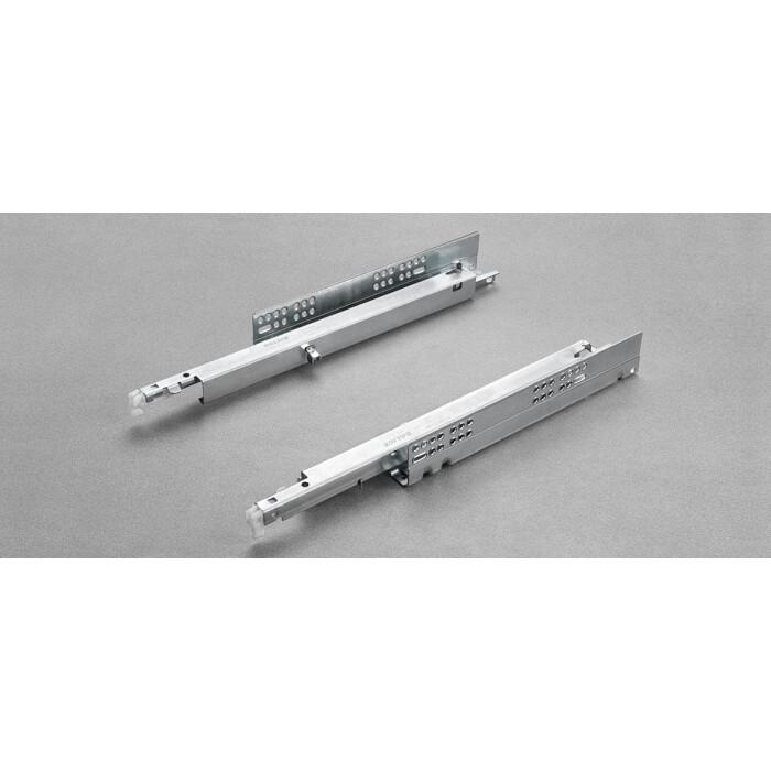 Komplet prowadnic FUTURA PUSH 450mm, pełen wysuw, 6557/45 (P+L)