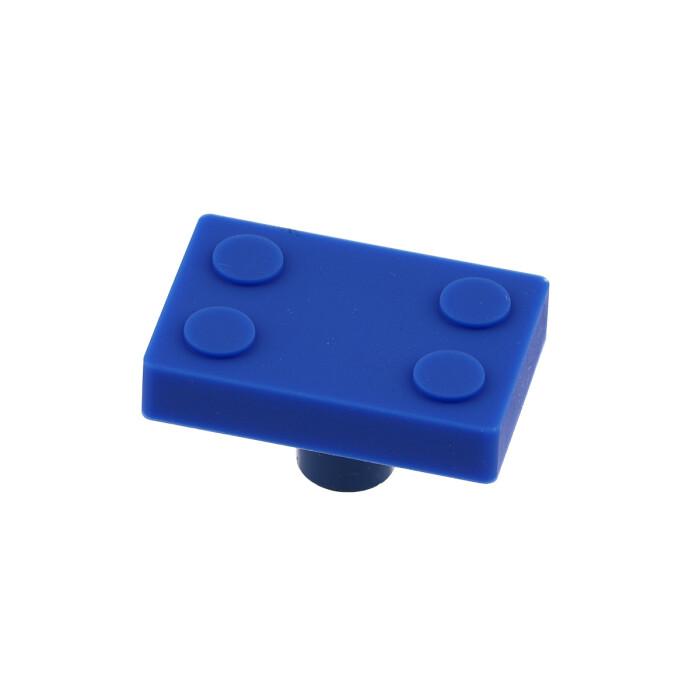 Gumowy uchwyt dla dzieci - klocek, niebieski