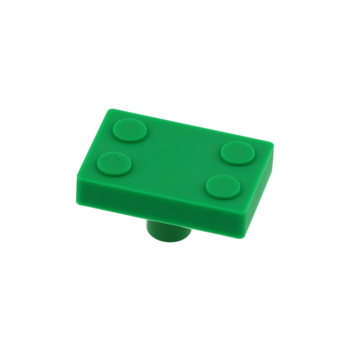 Gumowy uchwyt dla dzieci - klocek, zielony