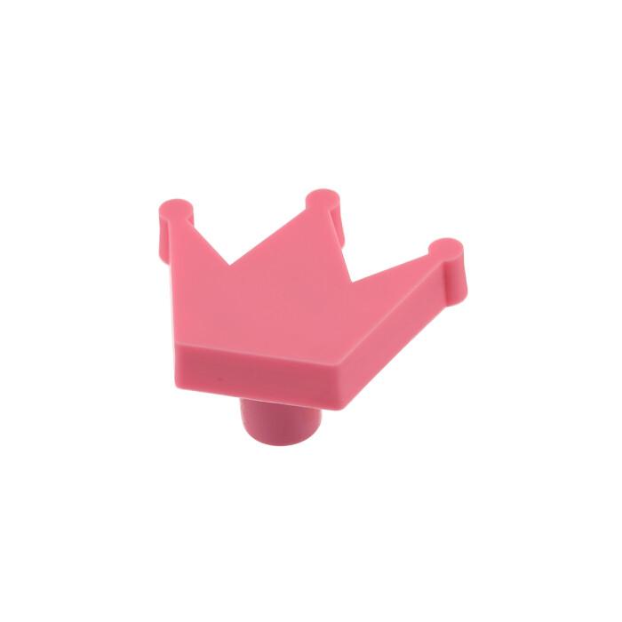 Gumowy uchwyt dla dzieci - korona, różowa