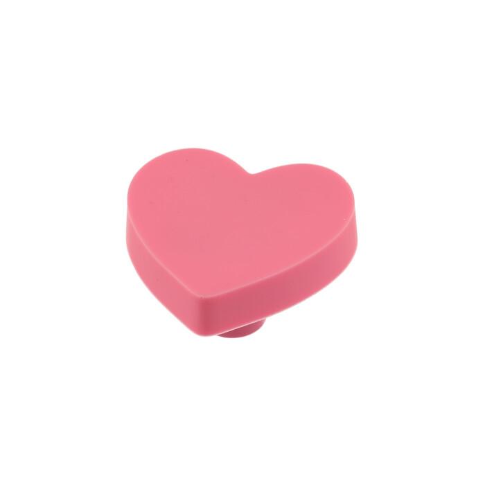 Gumowy uchwyt dla dzieci - serce, różowe