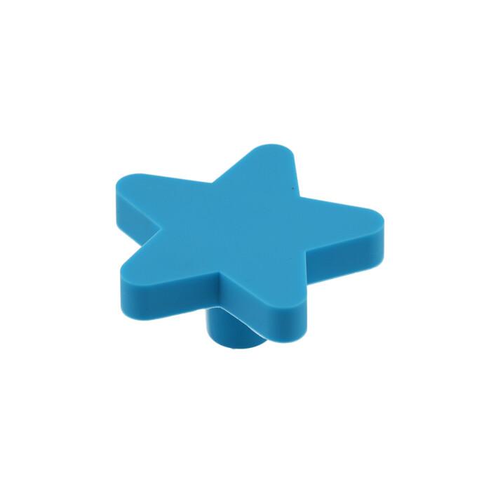 Gumowy uchwyt dla dzieci - gwiazdka, niebieska