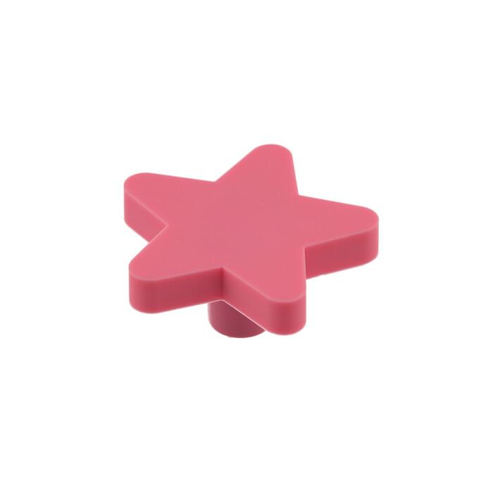 Gumowy uchwyt dla dzieci - gwiazdka, różowa