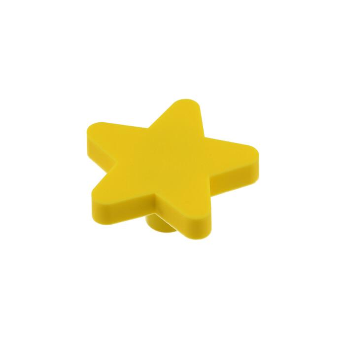 Gumowy uchwyt dla dzieci - gwiazdka, zółta