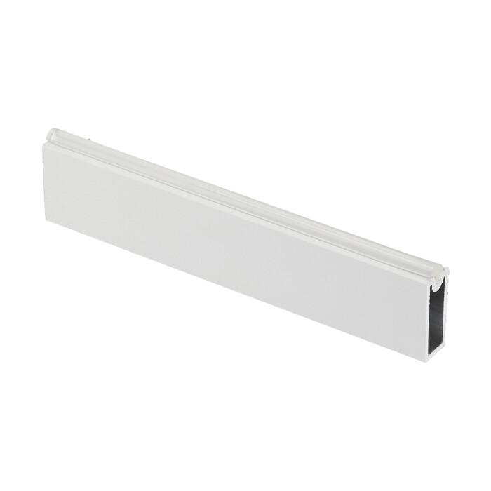 Drążek ubraniowy, prostokątny z silikonem, biały, 3000mm