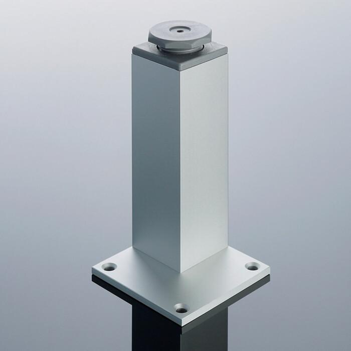 Nóżka N45x45 B H-200 mm z reg. aluminum