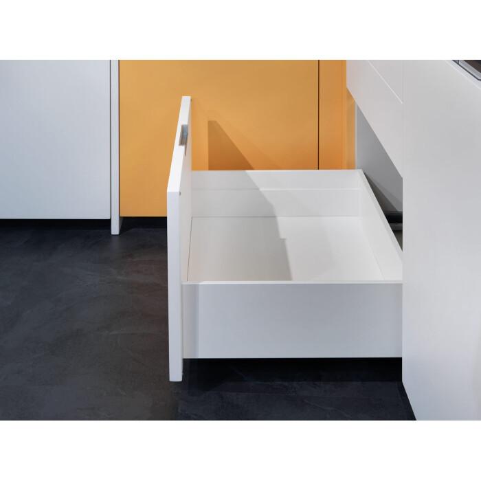 Zestaw - Szuflada dwuścienna, wysoka LineaBox, 500mm, wys.180mm, Biała