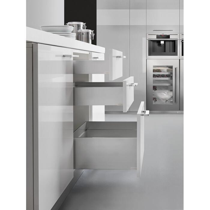 Ścianka boczna szuflady dwuściennej LineaBox, 450mm, H-77mm, Biały