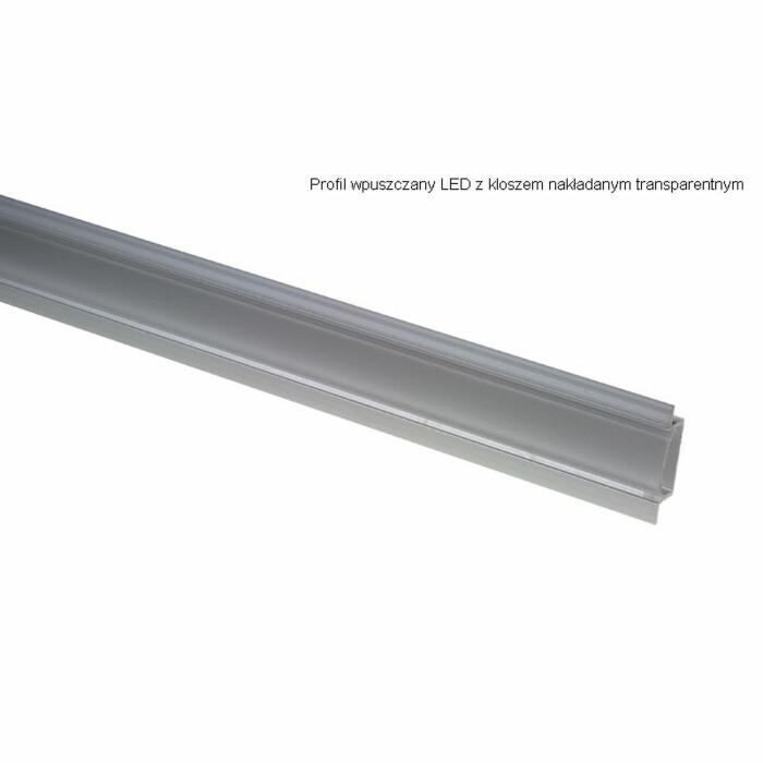 Profil aluminiowy wpuszczany do LED, aluminium