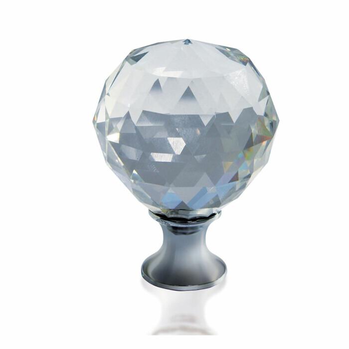Gałka meblowa CRISTAL PALACE A 20 mm, chrom, kryształ
