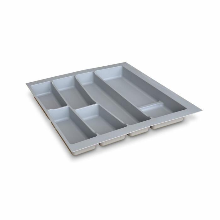 Wkład na sztućce do szuflady 600 mm, szary, wys: 55 mm