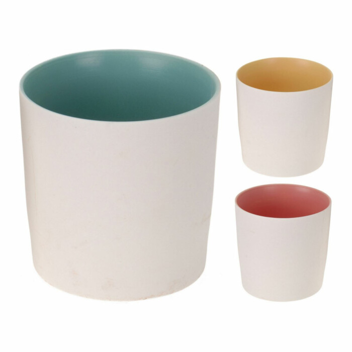 Świecznik ceramiczny biały 7,7 cm