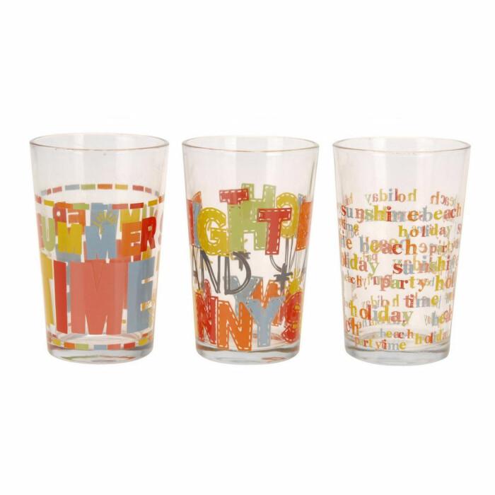 Zestaw 3 x szklanek Summer, CC6200050