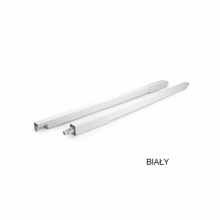 Reling wzdłużny szuflady ATIRA  420 mm, biały, L+P(kpl)