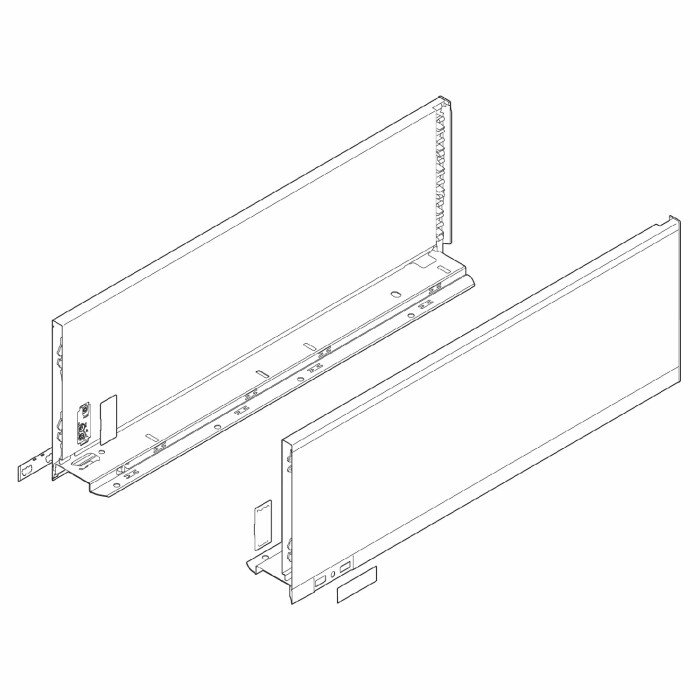 Komplet boków szuflady LEGRABOX P/L, L-300, Czarny , C (177,0 mm)