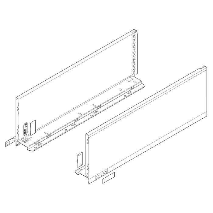 Komplet boków szuflady LEGRABOX P/L, L-350, Czarny , C (177,0 mm)