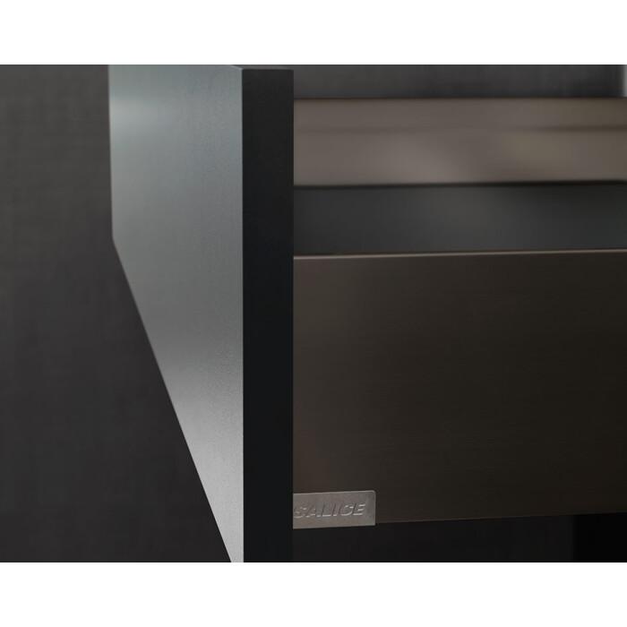 Ścianka boczna szuflady dwuściennej LineaBox, 550mm, H-77mm, TITANIUM
