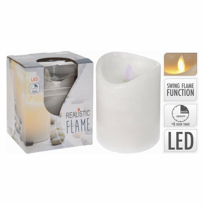 Świeca LED z ruchomym knotem, 75X100 mm