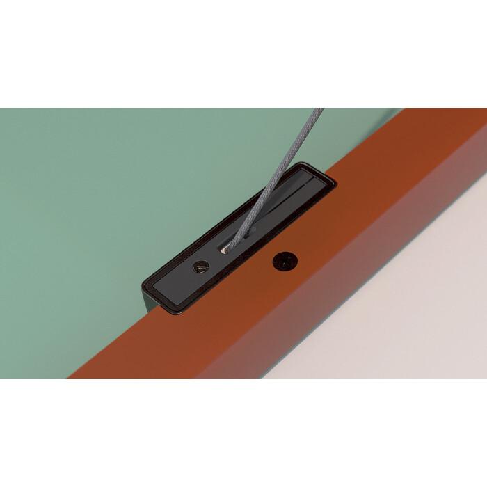 Adapter wąskiej ramki aluminiowej , system KIARO, czarny nikiel