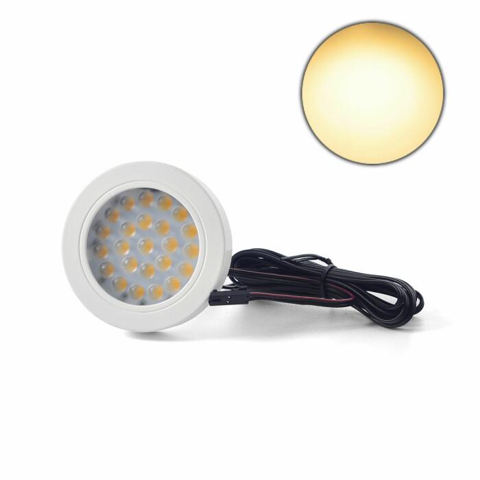 Oprawa LED VASCO z dystansem, biały połysk, barwa światła: ciepła