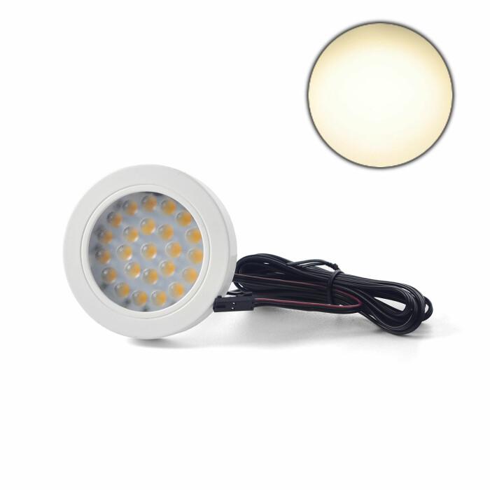 Oprawa LED VASCO z dystansem, biały połysk, barwa światła: neutralna