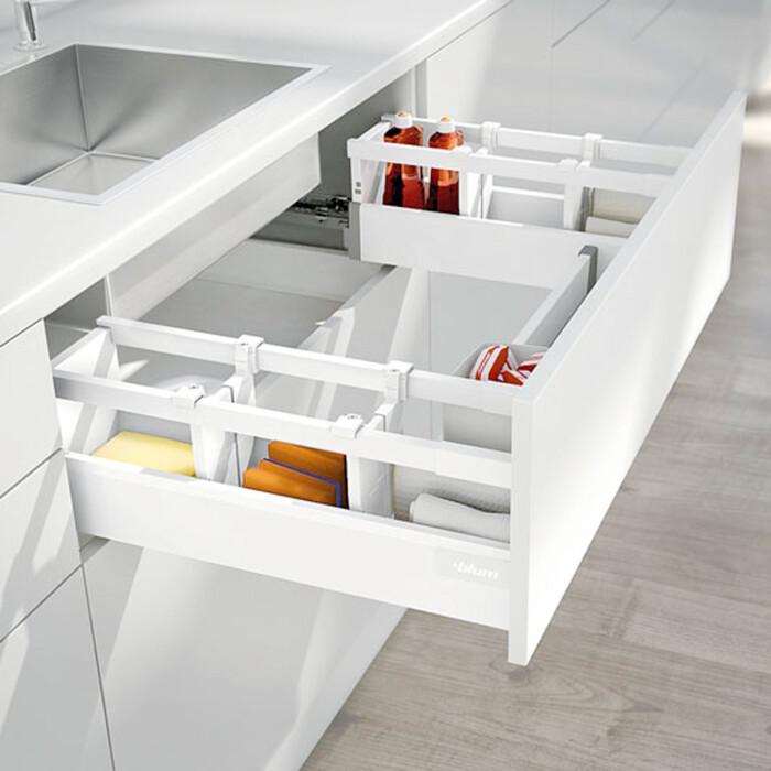 Mocowanie ścianki tylnej TANDEMBOX wys. D (224 mm), do szuflady zlewozmywakowej, prawy+lewy