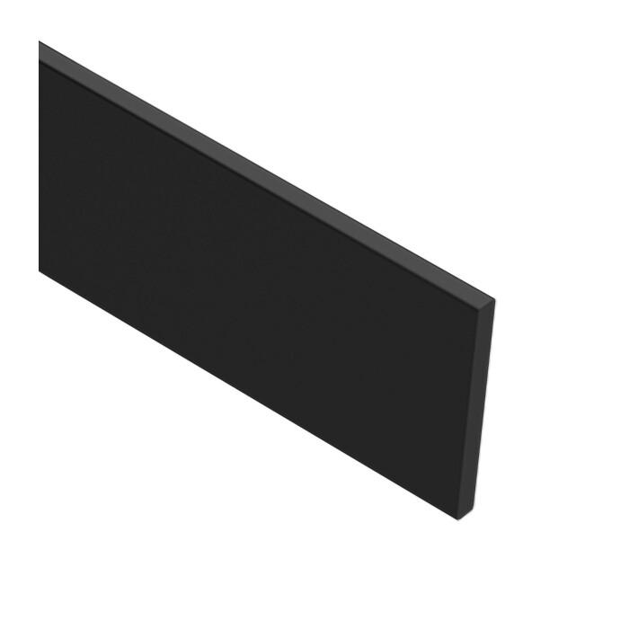 Płaskownik wykończeniowy, 3500 mm, Czarny MAT