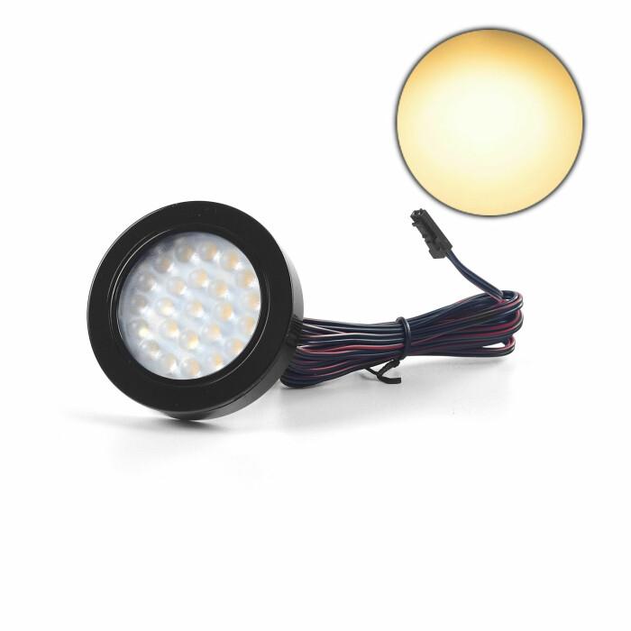 Oprawa LED VASCO z dystansem, czarny połysk, barwa światła: ciepła