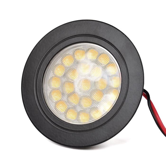 Oprawa Meblowa LED Okrągła, DL-42, Czarny, ciepły biały