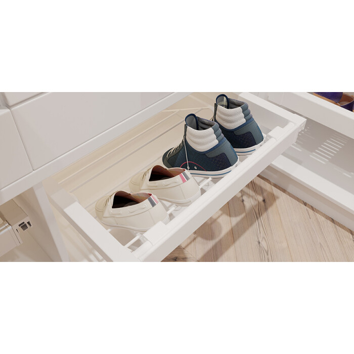 Szuflada na obuwie ELITE, 700 mm, biała
