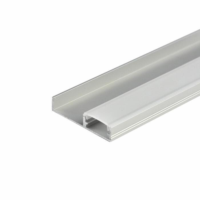 Profil LED cokołowy FLOORLINE, aluminium, 3mb, klosz mleczny