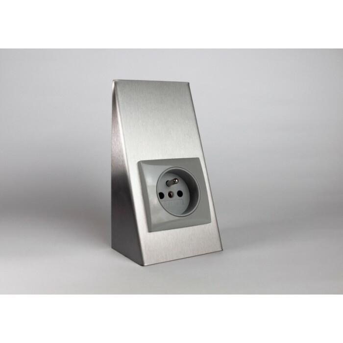 Gniazdo podszafkowe BERKER - aluminium