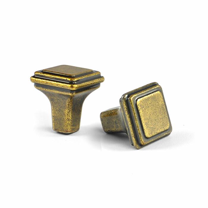 Gałka meblowa GR38, stare złoto