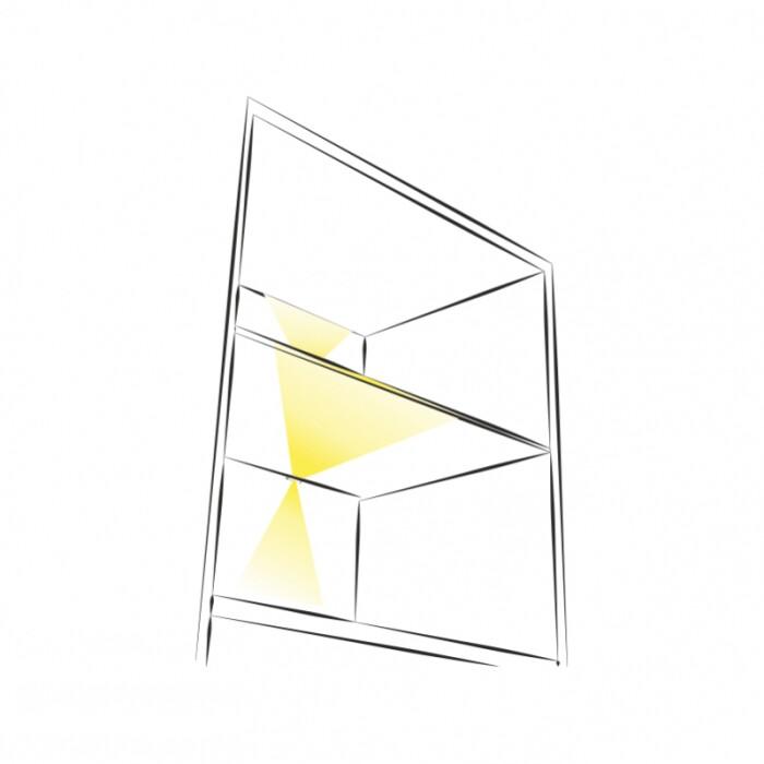 Dekoracyjny klips 3D LED do oświetlenia półek szklanych