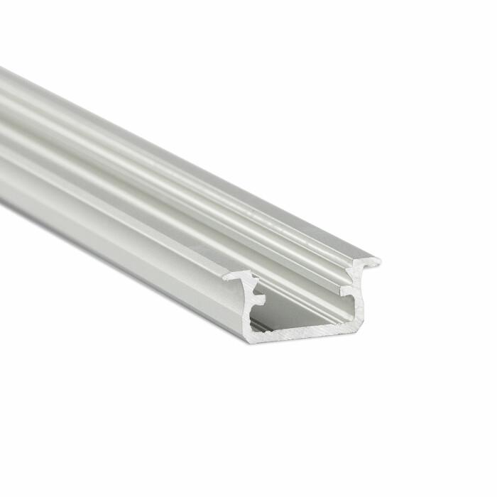 Profil LED LUMINES wpuszczany B, srebrny anodowany, 2,02 mb