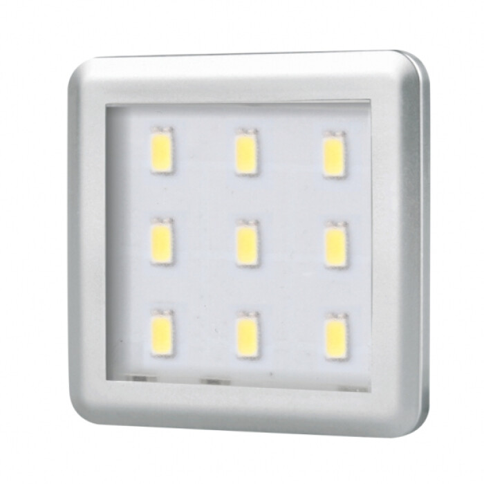 Oprawa LED SQUARE 2 aluminium, (barwa światła: ciepła)