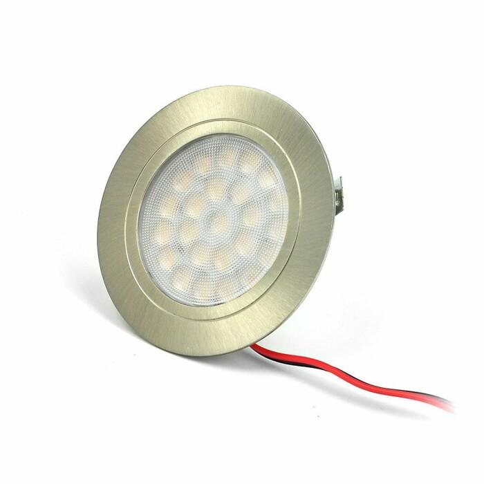 Oprawa wpuszczana OVAL LED , stal szlifowana, barwa światła: neutralna