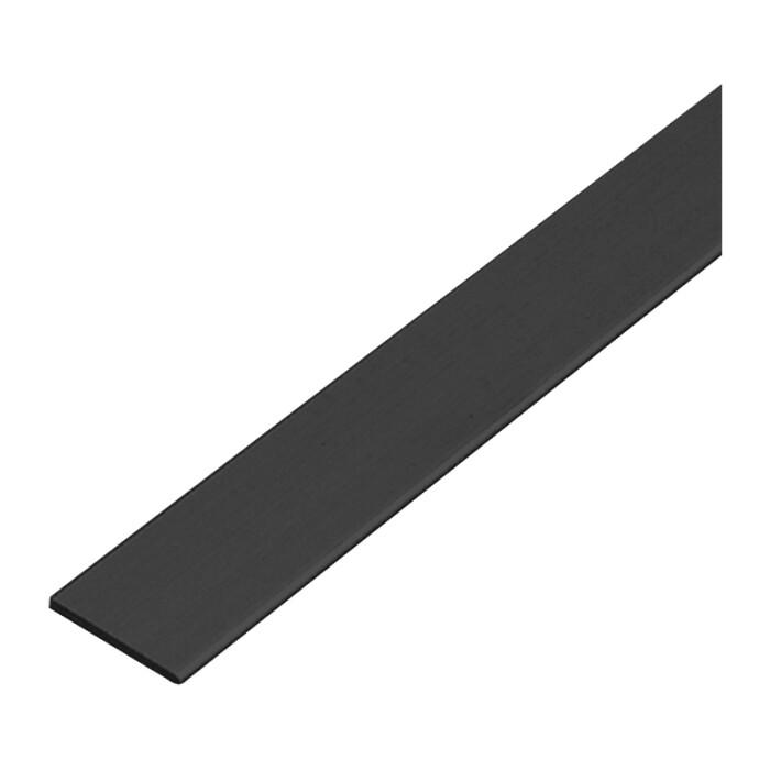 Płaskownik, 3mb, czarny MAT