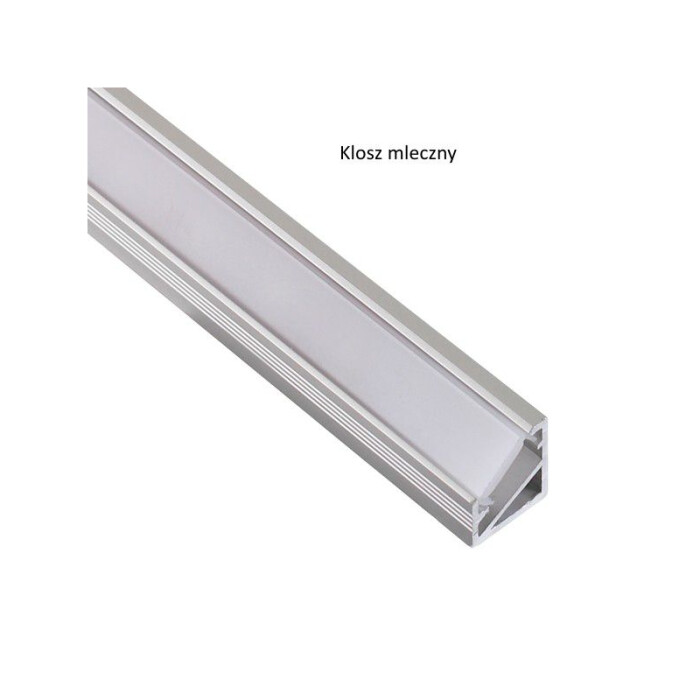 Profil LED Triline mini kątowy, aluminiowy, 2mb, mleczny