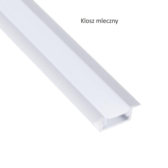 Profil aluminiowy INLINE MINI XL 2 m, klosz mleczny