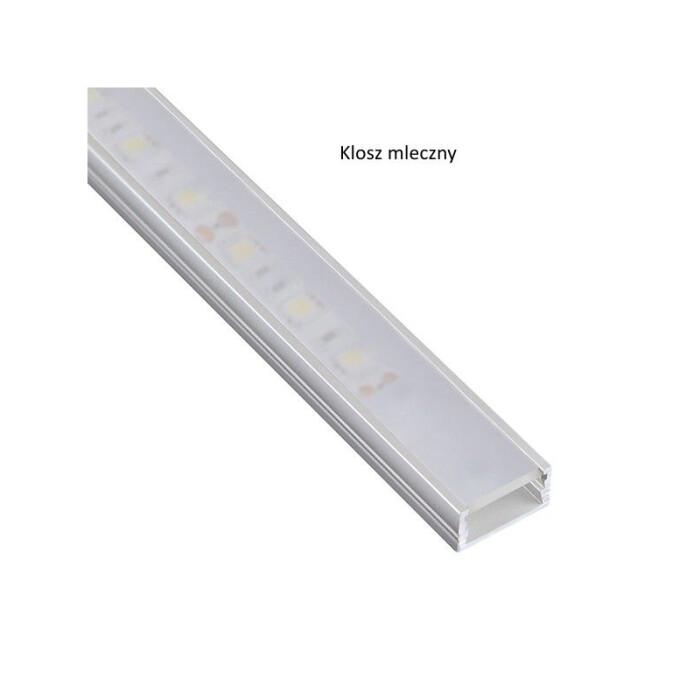 Profil LED nawierzchniowy Line Mini, aluminiowy, 2mb, mleczny