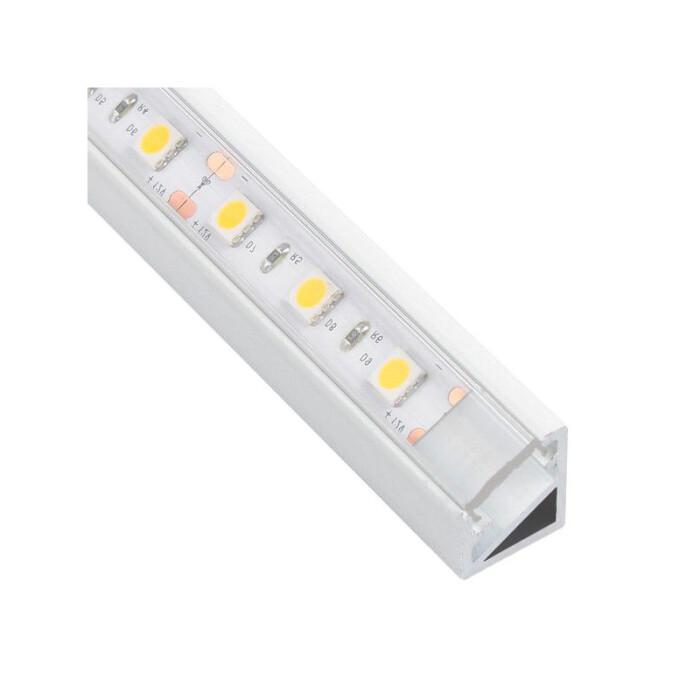 Profil LED Triline mini kątowy, biały, 3mb, klosz transparentny