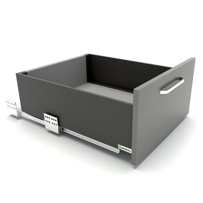 Szuflada SEVROLLBOX SLIM (grafit), średnia, 450 mm