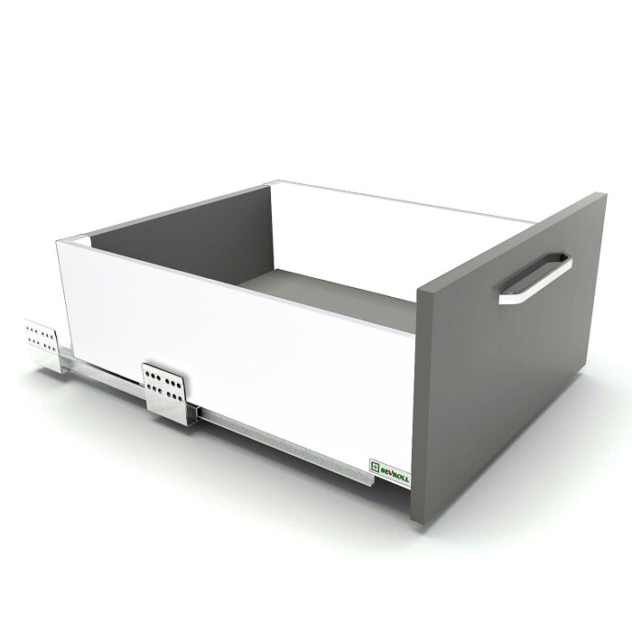 Szuflada SEVROLLBOX SLIM (biały), średnia, 450 mm