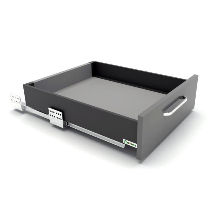 Szuflada SEVROLLBOX SLIM (grafit), niska, 300 mm